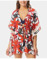 Vince Camuto - Tie-front Caftan Cover-up - Lyst