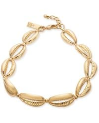 INC International Concepts Inc Gold-tone Shell Ankle Bracelet, Created For Macy's - Metallic