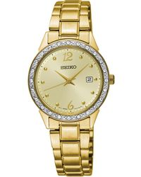 Seiko - Special Value Gold-tone Stainless Steel Bracelet Watch 28mm - Lyst