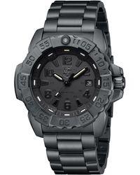 Luminox 3252.bo Navy Seal Black-out Stainless Bracelet Watch