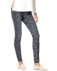 Hue ® Leggy Leopard Denim High Rise Leggings - Black