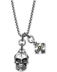 Scott Kay - Men's Multi-charm Pendant Necklace In Sterling Silver & 18k Gold - Lyst