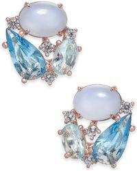 Danori - Openwork Crystal Stud Earrings, Created For Macy's - Lyst