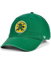 47 Brand - Oakland Athletics Mclean Coop Clean Up Cap - Lyst
