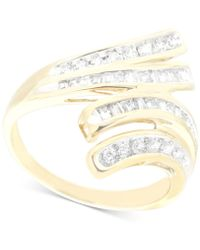 Wrapped in Love - Diamond Wave Ring (1/2 Ct. T.w.) In 10k Gold - Lyst