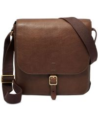 Fossil - Buckner Leather City Bag - Lyst