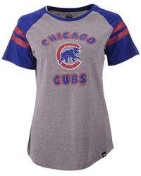 47 Brand Chicago Cubs Fly Out Raglan T-shirt - Blue