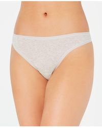 Charter Club Supima Cotton Thong Underwear, Created For Macy's - Gray