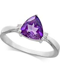 Macy's - Amethyst (1-1/5 Ct. T.w.) & Diamond Accent Ring In 14k White Gold - Lyst