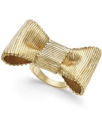 Kate Spade - Gold-tone Bow Statement Ring - Lyst