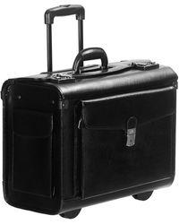 Mancini Business Collection Wheeled Laptop Catalog Case - Black