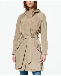 Marc New York Belted Poly Trench Rain Coat - Natural