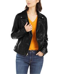 Tommy Hilfiger - Faux-leather Moto Jacket, Created For Macy's - Lyst