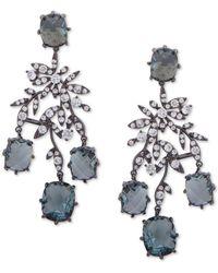 Jenny Packham - Hematite-tone Crystal & Stone Chandelier Earrings - Lyst