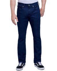 Seven7 Slim Straight Cut 5 Pocket Jean - Blue