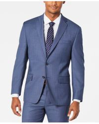 Michael Kors - Classic-fit Airsoft Stretch Light Blue/navy Birdseye Suit Jacket - Lyst