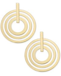 """INC International Concepts - I.n.c. Extra Large 3"""" Gold-tone Multi-circle Large Drop Earrings, Created For Macy's - Lyst"""