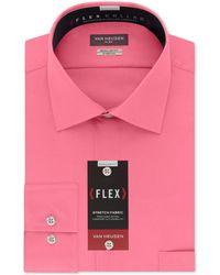 Van Heusen - Classic-fit Wrinkle Free Flex Collar Stretch Solid Dress Shirt - Lyst