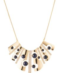 "Trina Turk - 17"" Cut-out Bib Necklace With Pave - Lyst"