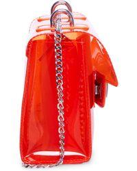 Steve Madden Bscene Clear Flap Crossbody - Orange