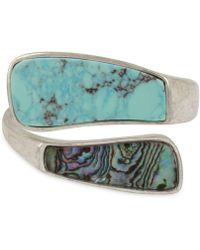 Robert Lee Morris - Silver-tone Colored Stone Bypass Bracelet - Lyst