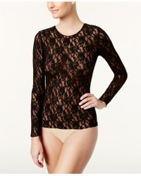 Hanky Panky Signature Lace Unlined Reversible Top - Black
