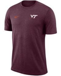 Nike - Virginia Tech Hokies Dri-fit Coaches T-shirt - Lyst