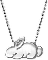Alex Woo - Little Rabbit Zodiac Pendant Necklace In Sterling Silver - Lyst