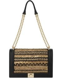 INC International Concepts Inc Ajae Beaded Flap Crossbody, Created For Macy's - Black