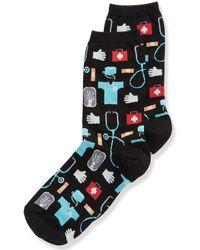 Hot Sox Professions Printed Socks - Black