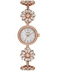 Kate Spade - Women's Daisy Chain Rose Gold-tone Stainless Steel Bracelet Watch 20mm - Lyst
