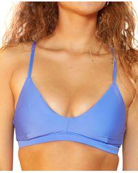 Hurley Juniors' Scoop-neck Bikini Top - Blue