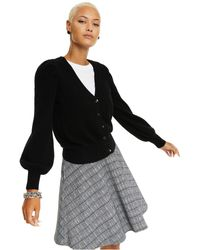 Charter Club Cashmere Balloon-sleeve Cardigan, In Regular & Petite Sizes, Created For Macy's - Black