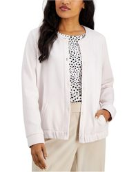 Alfani Button-front Jacket, Created For Macy's - White