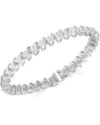 Macy's Diamond Tennis Bracelet In Sterling Silver (1/2 Ct. T.w.) - Metallic