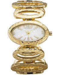 Style & Co. Oval-link Bracelet Watch 38mm, Created For Macy's - Metallic