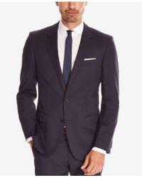 e844afe8 BOSS Slim-fit Jacket In Virgin Wool in Black for Men - Lyst