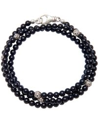 Nialaya The Mykonos Collection - Matte Onyx And Silver - Blue