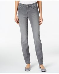 Style & Co. - Curvy Tummy-control Grey Wash Skinny Jeans, Only At Macy's - Lyst