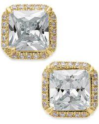 Kate Spade - Crystal Square Stud Earrings - Lyst