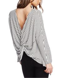 1.STATE Striped Twist-back Top - Multicolor