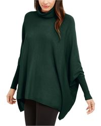 Alfani Turtleneck Poncho Jumper, Created For Macy's - Green