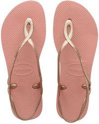 Havaianas Luna Flip Flop Sandals - Pink