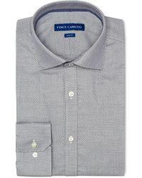 Vince Camuto - Slim-fit Comfort Stretch Navy Dobby Dress Shirt - Lyst