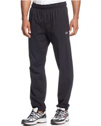 ed4b0a18a2e2 Champion - Jersey Pants With Banded Bottom - Lyst