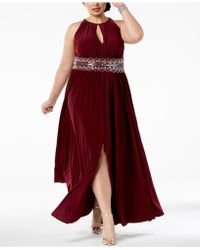 R & M Richards - R&m Richards Plus Size Sleeveless Beaded Gown - Lyst