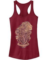 Fifth Sun Harry Potter Hogwarts Gryffindor House Crest Juniors Racerback Tank - Red