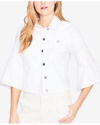 RACHEL Rachel Roy - Ruffled-cuff Denim Jacket, Created For Macy's - Lyst