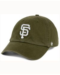 47 Brand Olive White Clean Up Cap - Green