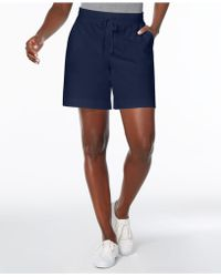 Karen Scott - Petite Drawstring Knit Shorts, Created For Macy's - Lyst